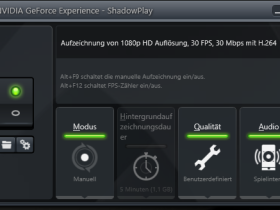 NVIDIA GeForce Experience - ShadowPlay - Config
